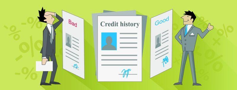 Credit history bad and good