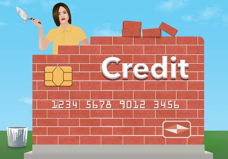 concept of rebuilding or repairing your credit rating with credit card