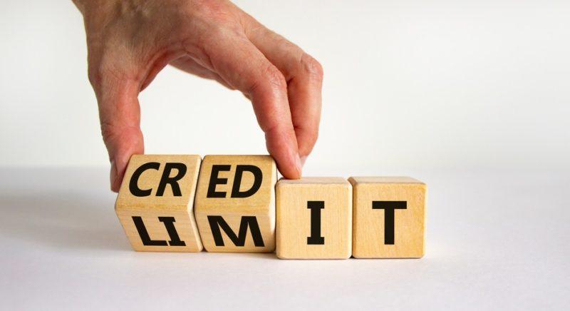 credit limit concept on wooden blocks