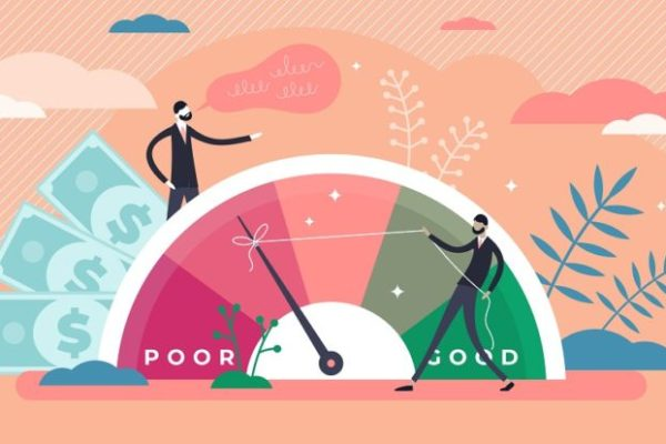 economical situation improvement from poor to good for credit score