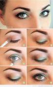 innovative-makeup-with-wedding-eye-makeup-tutorial-with-tutorial-para-maquillar-ojos-con-tonos-verdes-paso-a-paso-verano-2013
