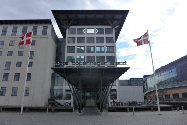 Der Eingang vom Hotel Copenhagen Island