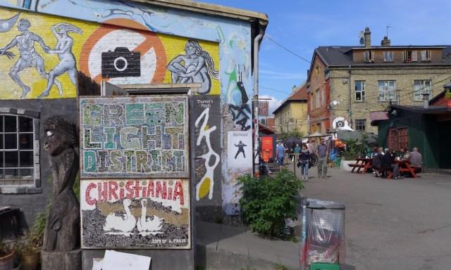 Fotografieren verboten Zeichen im Freistadt Christiania