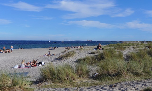 Strand, Dünen und die Öresundbrücke am Amager Strandpark