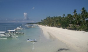 Viele Bangka am Strand von Panglao, Phillippinen