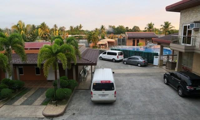 Blick aus dem Hotelzimmer des Japi Hotels in Cauayan