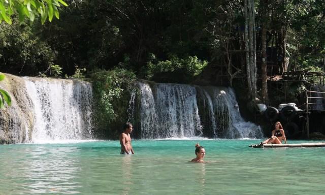 Swimming and modeling guys at Cambugahay Falls