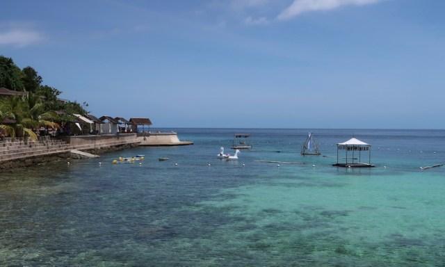 Salagdoong Beach mit vermietbaren Wasseraccesoirs