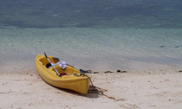 Ein gelbes Kaja am Tubod Beach