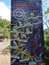 Schild von den Zodiac Falls
