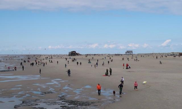Strand in SPO am Pfingstsonntag