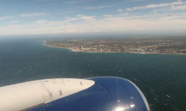 Port Elizabeth auf dem Flugzeug heraus fotografiert