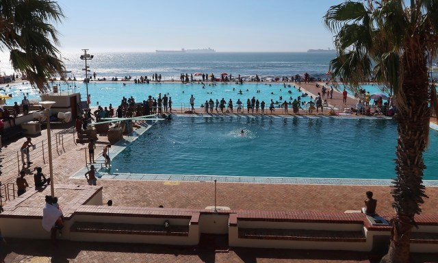 Miltons Swimming Pool am Meer in Seapoint, Kapstadt