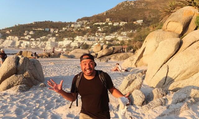 Bendja ist begeistert vom Clifton Beach