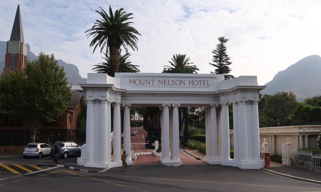 Eingang des Mount Nelson Hotels
