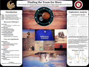 Sawyer, Hancock, Deaton & Suedfeld, 2012- Toward Martian Teams