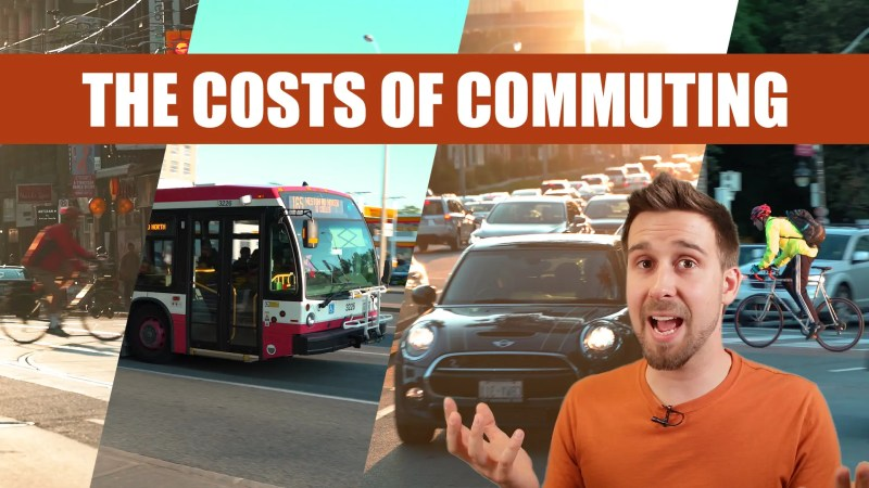photoshop composition of an ebike, bus, car traffic, and a cyclist, with a screenshot of Ben talking