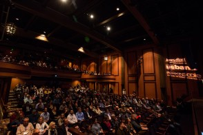 Large crowd in Tower theater