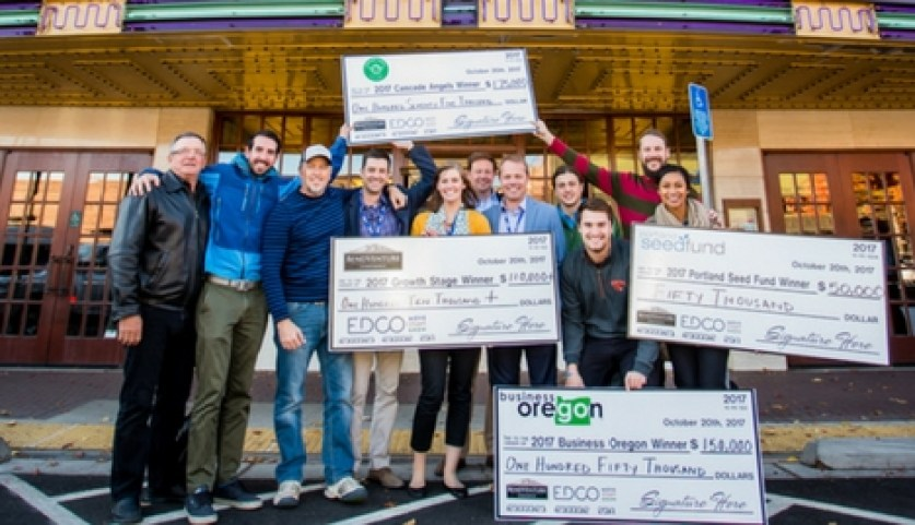 The 2017 Bend Venture Conference's big winner,Justin Johnson and the LeadMethod team