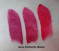 Avon Perfectly Matte Swatches