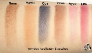 Yemoja Applicator Swatches