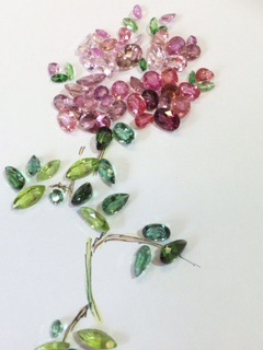 ボンボンのように咲く可憐なバラ
