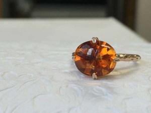 【カスタマイズ例】トロッとした輝きを放つ特別なリング