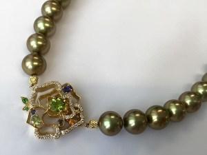 【フルオーダー例】グリーンゴールドの妖艶。 ナチュラルカラーの品格。