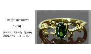 5月30日生まれのあなた。お誕生日おめでとうございます。誕生石はツァボライトガーネット(グリーンガーネット)、意味と誕生花、プレゼントは?