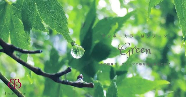 ラッキーカラーは「緑」。カラーの意味や効果について