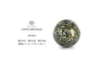 11月21日生まれのあなた。お誕生日おめでとうございます。誕生石はメテオライト,意味と誕生花、プレゼントは