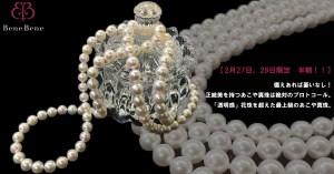 【2月27日、28日限定 半額!!】備えあれば憂いなし!正統美を持つあこや真珠は絶対のプロトコール。「透明感」花珠を超えた最上級のあこや真珠。