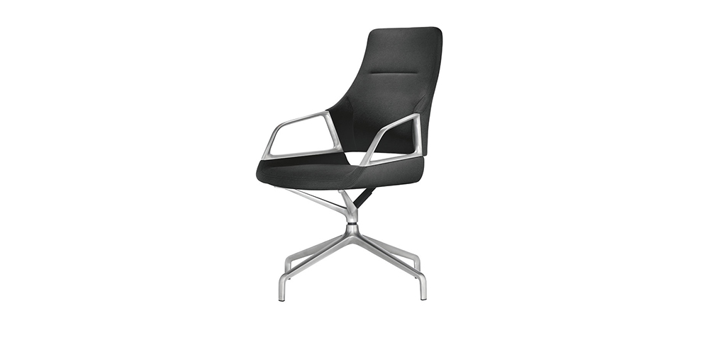 designer executive chair contemporary accent chairs with arms graph - bene office furniture