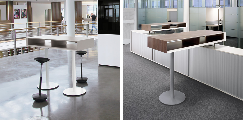 TMeeting Stand Up Table  Bene Office Furniture