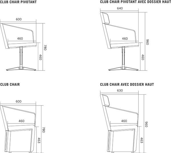 office chair diagram target foldable chairs club bene furniture dimensions mm