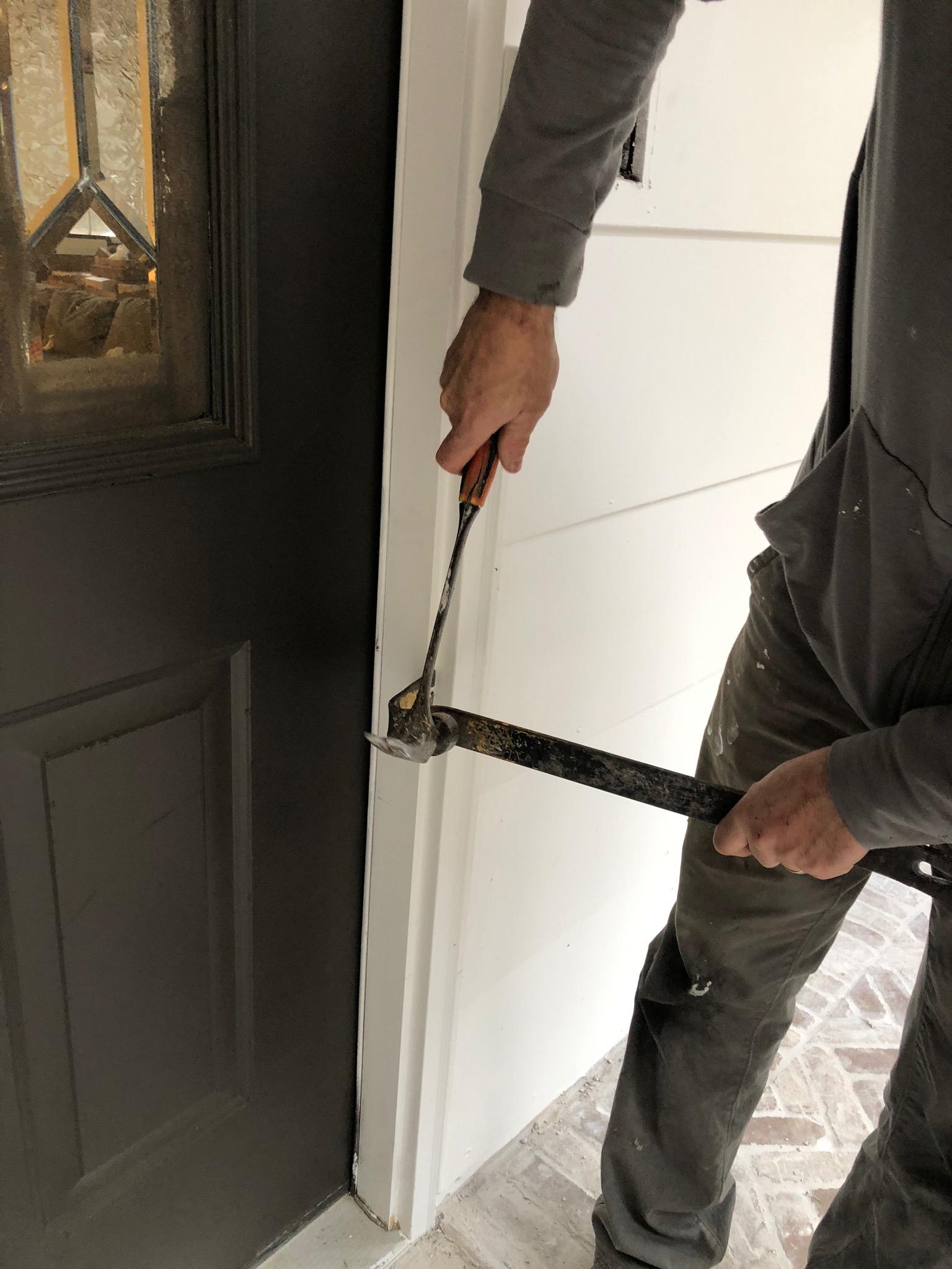Replacing Door Trim : replacing, Install, Stain, Front, Doors, Beneath, Heart