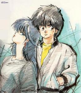 Madoka and Kyousuke