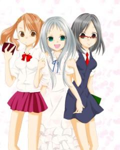 Menma, Anaru, and Tsuruko