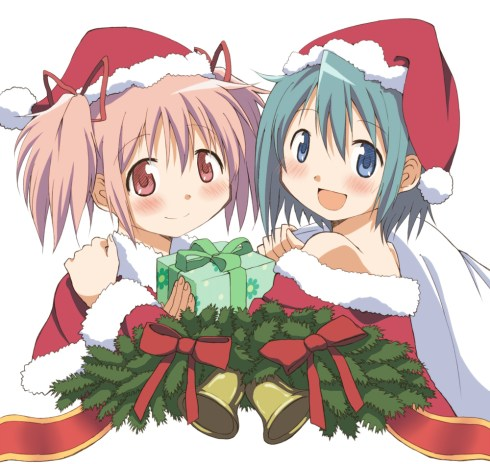 Sayaka and Madoka Christmas