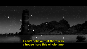 A house? You mean the cottage that was transformed into a tower by the SHAFT fairies?