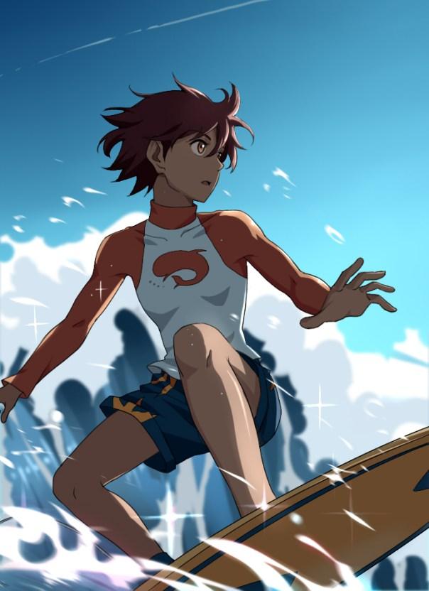 Kanae Sumida surfing