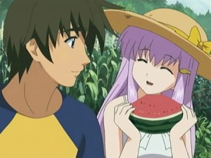 Also a watermelon: childhood friend of fruit lovers everywhere.