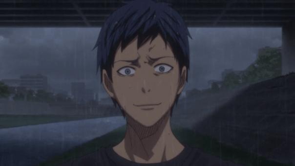 "Aomine tells Kuroko, ""I've... already forgotten how to receive your passes."""