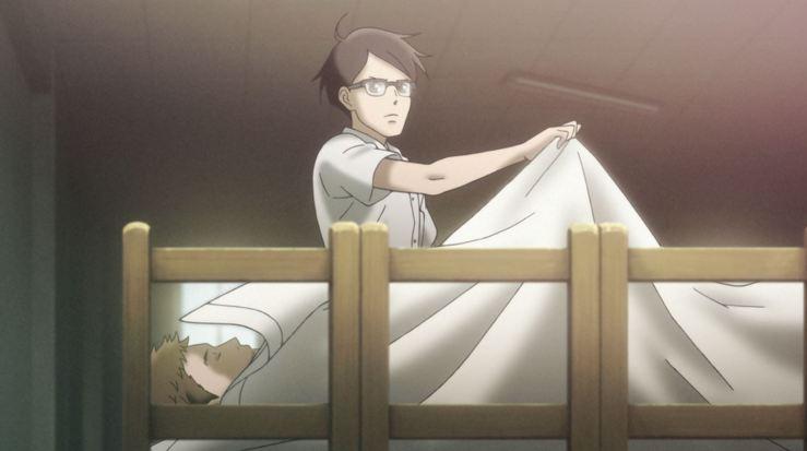 Kaoru first meets Sentaro