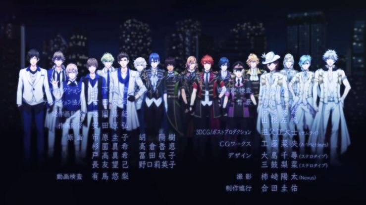 Group shot of HEAVENS, STARISH, and Quartet Night.