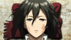 mikasa injured hurt
