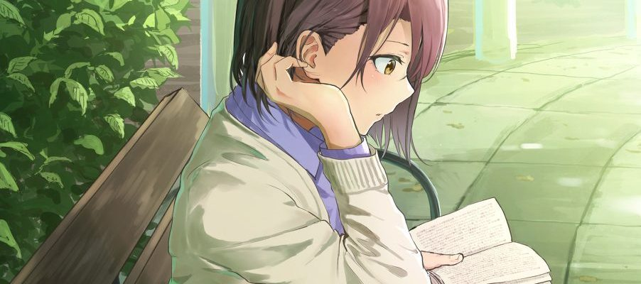 anime girl reading