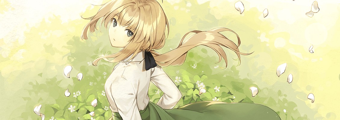violet evergarden green dress