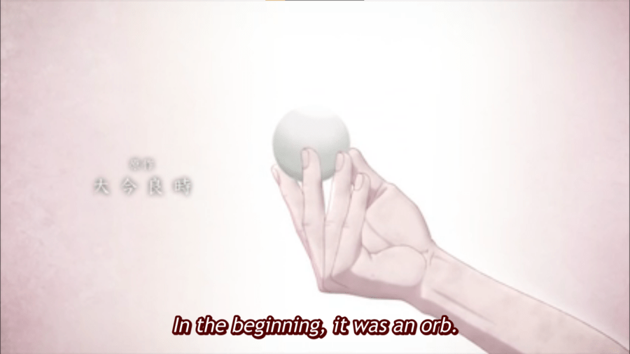 The orb (To Your Eternity, episode 1)