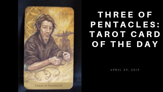 Three of Pentacle Tarot Card